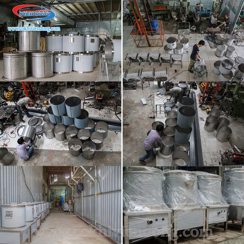 Xưởng sản xuất nồi nấu phở điện Viễn Đông