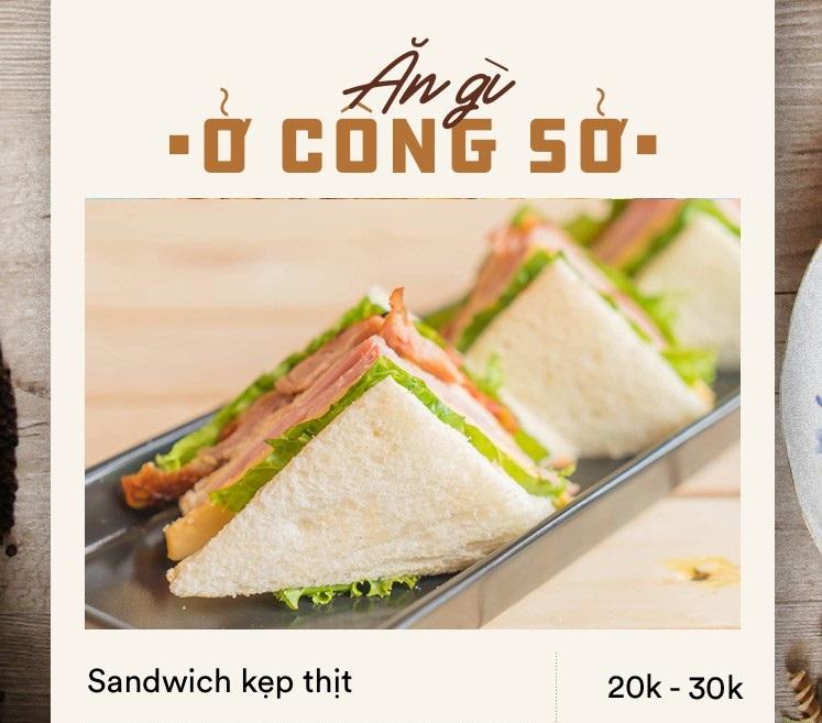 sandwich kẹp thịt