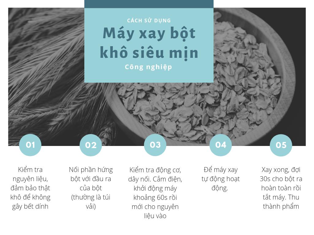 cách dùng máy xay bột khô siêu mịn công nghiệp