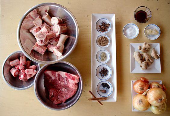nguyên liệu nấu nước lèo bún bò huế
